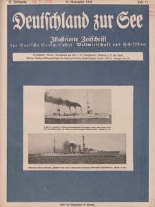 Deutschland zur See, 11. Jg. November 1926, Heft 11.