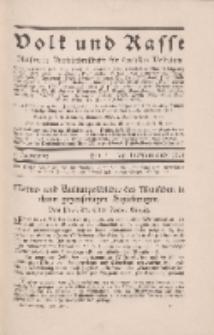 Volk und Rasse, 3. Jg. April 1928, Heft 2.