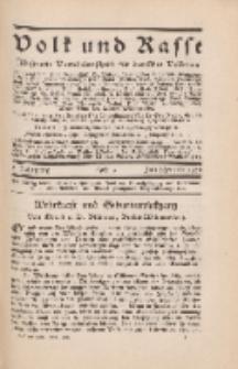 Volk und Rasse, 3. Jg. Juli 1928, Heft 3.