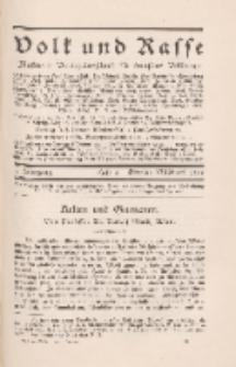 Volk und Rasse, 3. Jg. Oktober 1928, Heft 4.