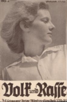 Volk und Rasse, 13. Jg. Februar 1938, Heft 2.