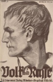 Volk und Rasse, 13. Jg. März 1938, Heft 3.