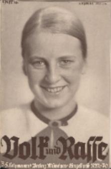 Volk und Rasse, 13. Jg. April 1938, Heft 4.
