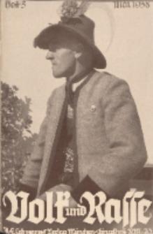 Volk und Rasse, 13. Jg. Mai 1938, Heft 5.