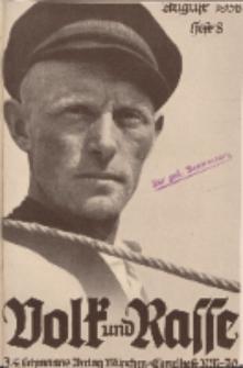Volk und Rasse, 13. Jg. August 1938, Heft 8.