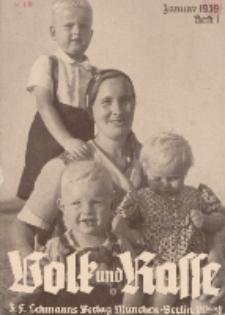 Volk und Rasse, 14. Jg. Januar 1939, Heft 1.