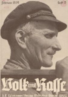 Volk und Rasse, 14. Jg. Februar 1939, Heft 2.