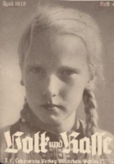 Volk und Rasse, 14. Jg. April 1939, Heft 4.