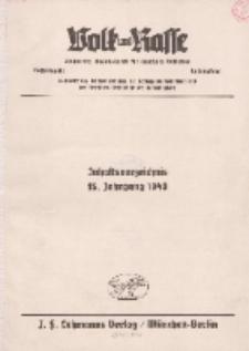 Volk und Rasse, 1940 (Beiträge)