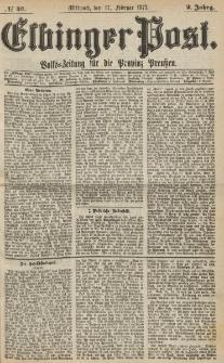 Elbinger Post, Nr. 40, Mittwoch 17 Februar 1875, 2 Jh