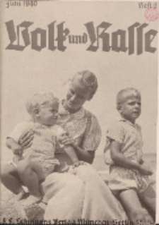 Volk und Rasse, 15. Jg. Juni 1940, Heft 6.