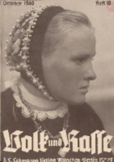 Volk und Rasse, 15. Jg. Oktober 1940, Heft 10.