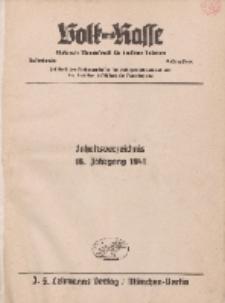 Volk und Rasse, 1941 (Beiträge)