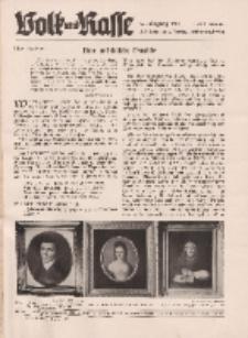 Volk und Rasse, 16. Jg. Januar 1941, Heft 1.