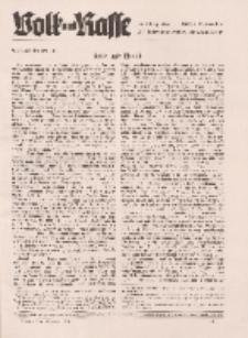 Volk und Rasse, 16. Jg. September 1941, Heft 9.