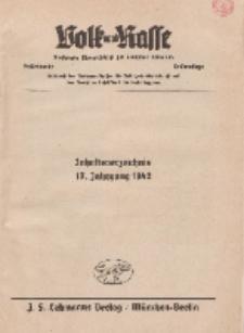 Volk und Rasse, 1942 (Beiträge)