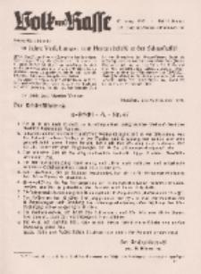 Volk und Rasse, 17. Jg. Januar 1942, Heft 1.