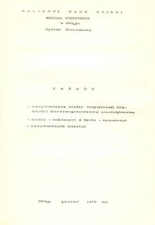 Zasady przeprowadzania analizy kompleksowej działalności finansowo-gospodarczej przedsiębiorstwa ... - druk