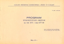 Program wykorzystania rezerw na rok 1976 i lata 1977-80 - broszura