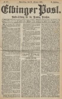 Elbinger Post, Nr. 47, Donnerstag 25 Februar 1875, 2 Jh