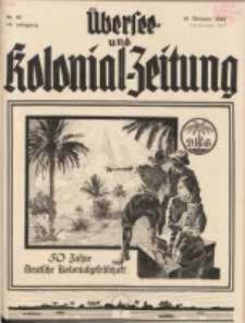 Übersee- und Kolonialzeitung, 44. Jg. 1. Oktober 1932, Nr 10.