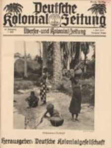 Deutsche Kolonial-Zeitung, 45. Jg. 1. Juli 1933, Heft 7.
