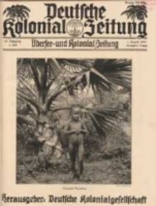 Deutsche Kolonial-Zeitung, 45. Jg. 1. August 1933, Heft 8.