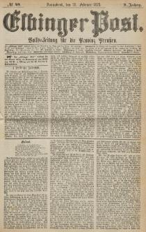 Elbinger Post, Nr. 49, Sonnabend 27 Februar 1875, 2 Jh