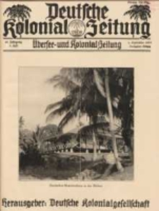 Deutsche Kolonial-Zeitung, 45. Jg. 1. September 1933, Heft 9.