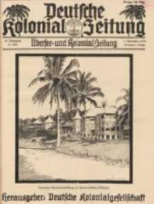 Deutsche Kolonial-Zeitung, 45. Jg. 1. November 1933, Heft 11.