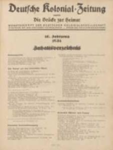 Deutsche Kolonial-Zeitung, 46. Jg. 1. Januar 1934, Heft 1.