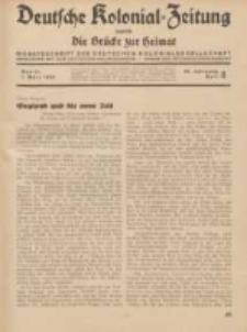 Deutsche Kolonial-Zeitung, 46. Jg. 1. März 1934, Heft 3.
