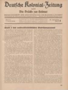 Deutsche Kolonial-Zeitung, 46. Jg. 1. April 1934, Heft 4.