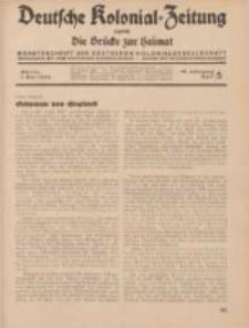 Deutsche Kolonial-Zeitung, 46. Jg. 1. Mai 1934, Heft 5.