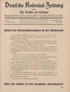 Deutsche Kolonial-Zeitung, 46. Jg. 1. Juni 1934, Heft 6.