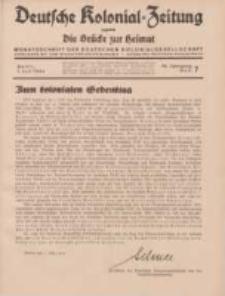 Deutsche Kolonial-Zeitung, 46. Jg. 1. Juli 1934, Heft 7.