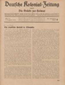 Deutsche Kolonial-Zeitung, 46. Jg. 1. August 1934, Heft 8.