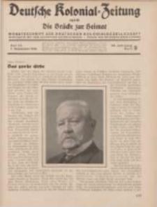 Deutsche Kolonial-Zeitung, 46. Jg. 1. September 1934, Heft 9.