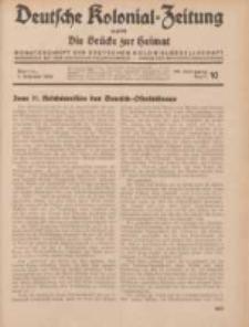 Deutsche Kolonial-Zeitung, 46. Jg. 1. Oktober 1934, Heft 10.
