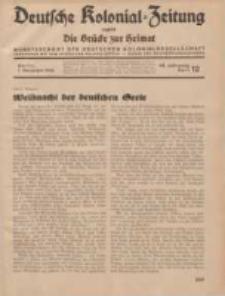 Deutsche Kolonial-Zeitung, 46. Jg. 1. Dezember 1934, Heft 12.