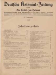 Deutsche Kolonial-Zeitung, 47. Jg. 1. Januar 1935, Heft 1.