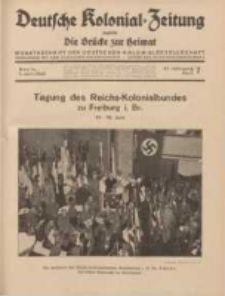 Deutsche Kolonial-Zeitung, 47. Jg. 1. Juli 1935, Heft 7.