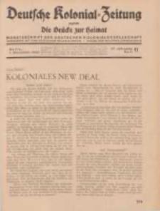 Deutsche Kolonial-Zeitung, 47. Jg. 1. November 1935, Heft 11.