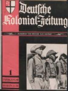 Deutsche Kolonial-Zeitung, 48. Jg. 1. Januar 1936, Heft 1.