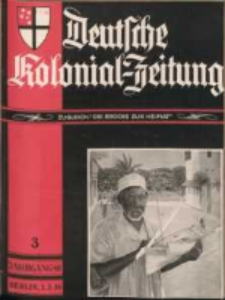 Deutsche Kolonial-Zeitung, 48. Jg. 1. März 1936, Heft 3.