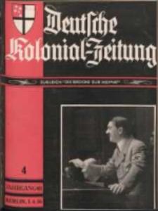 Deutsche Kolonial-Zeitung, 48. Jg. 1. April 1936, Heft 4.