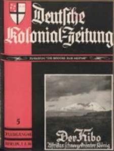 Deutsche Kolonial-Zeitung, 48. Jg. 1. Mai 1936, Heft 5.