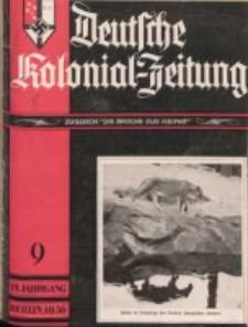 Deutsche Kolonial-Zeitung, 48. Jg. 1. September 1936, Heft 9.
