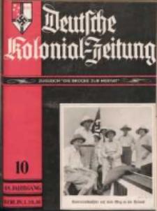 Deutsche Kolonial-Zeitung, 48. Jg. 1. Oktober 1936, Heft 10.