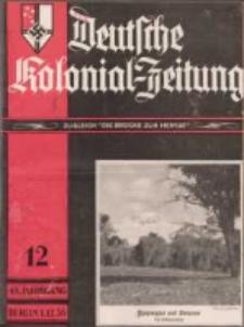 Deutsche Kolonial-Zeitung, 48. Jg. 1. Dezember 1936, Heft 12.